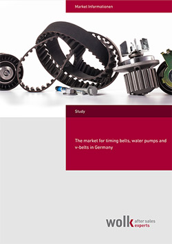 The market for timing-belts water pumps and V-belts in Germany